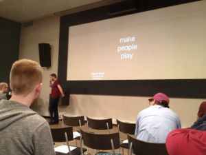 Closing slide from Miguel Sicart: make people play